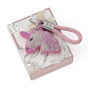 portachiavi unicorno rosa