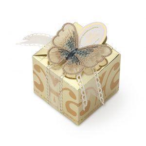 box farfalle oro