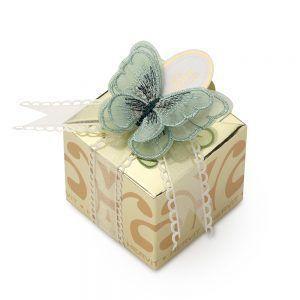 box con farfalla verde