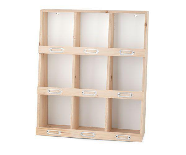 Display legno 9 caselle 42 x 14 x 49