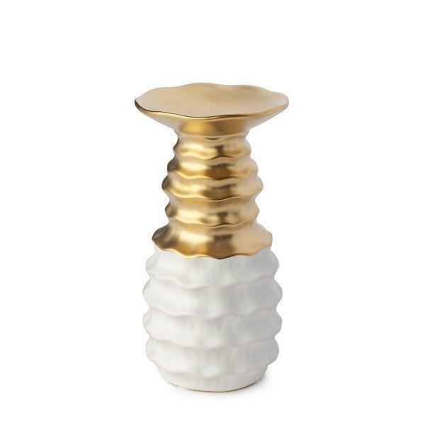 portacandela bianco/oro