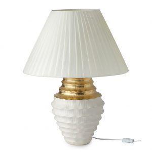 lampada gres bianco/oro