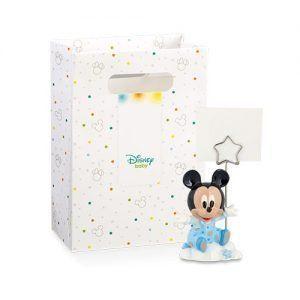 Segnaposto Mickey Mouse azzurro c/scatola