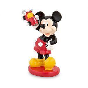 Mickey macchina resina h. 5,8 cm col. rosso/nero c/scat.